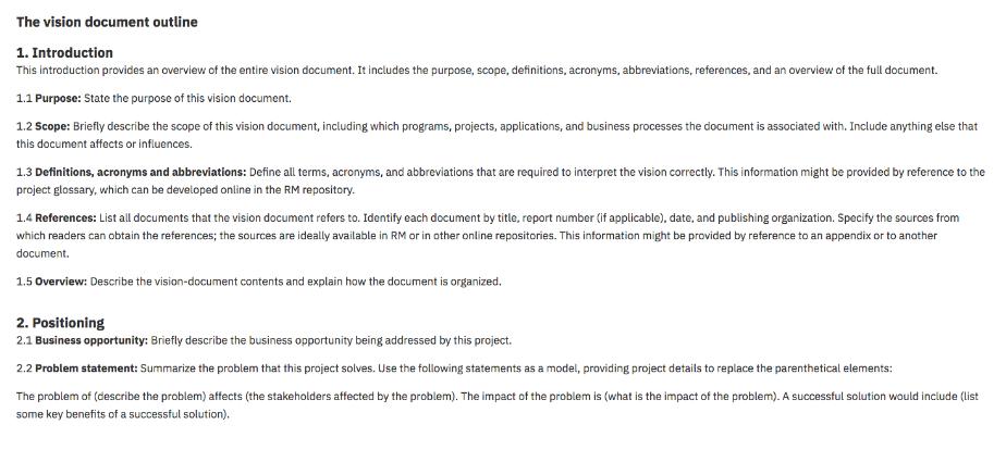 Documento de visión para desarrollo de software