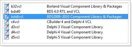 VCL aplicación delphi